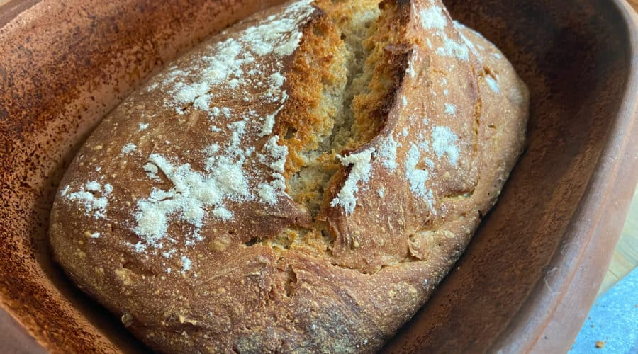 Brot fast ohne, Sauerteigbrot, Hefeteig, Römertopf