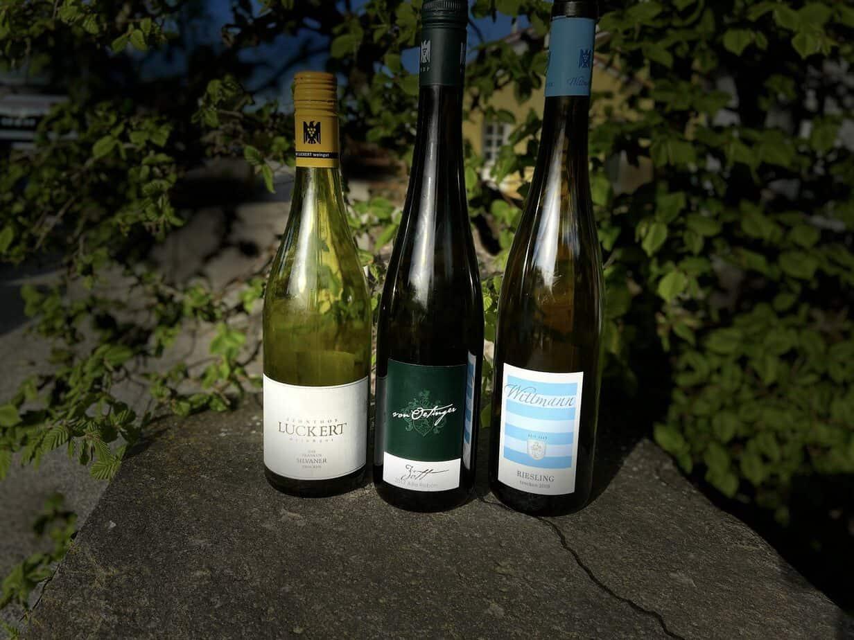 Wein, Weinflasche, Weinflaschen, Rheingau, Franken, Rheinhessen, Luckert, von Oetinger, Wittmann, Gutsweine des VDP