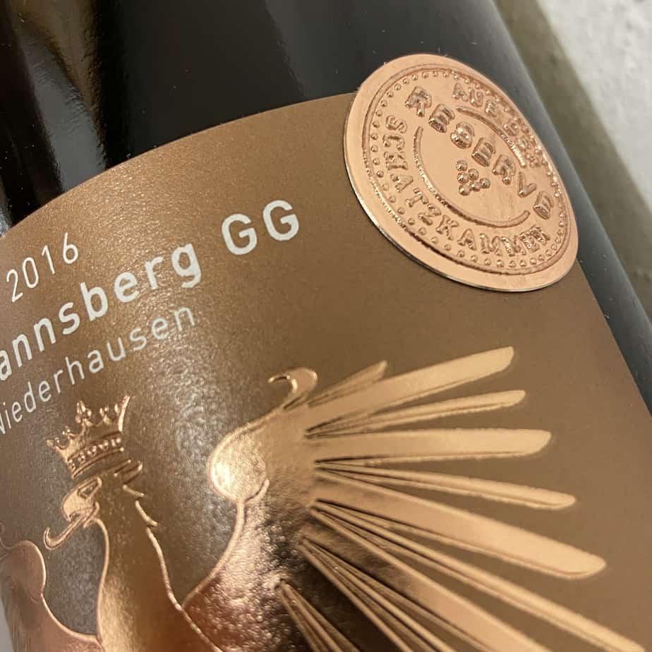 Wein Weinflasche Großes Gewächs Riesling Gut Hermannsberg